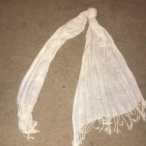 White sparkly scarf